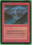 Magic the Gathering Beta Single Lightning Bolt - MODERATE PLAY (MP)