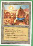 Magic the Gathering Chronicles Single City of Brass LIGHT PLAY (NM)