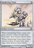 Magic the Gathering Darksteel Single Sundering Titan UNPLAYED (NM/MT)