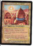 Magic the Gathering Promo Single City of Brass Foil (DCI) - SLIGHT PLAY (SP)