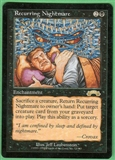 Magic the Gathering Exodus Single Recurring Nightmare - SLIGHT PLAY (SP)