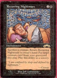 Magic the Gathering Exodus Single Recurring Nightmare MODERATE PLAY (VG/EX)