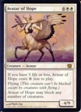 Magic the Gathering 8th Ed. 4x6 Single Avatar of Hope