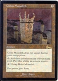 Magic the Gathering Urza's Legacy Single Grim Monolith LIGHT PLAY (NM)