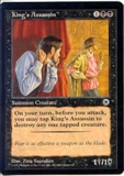 Magic the Gathering Portal 1 Single King's Assassin MODERATE PLAY (VG-EX)
