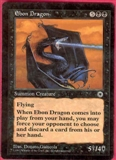 Magic the Gathering Portal 1 Single Ebon Dragon - SLIGHT PLAY (SP)