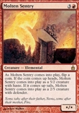 Magic the Gathering Ravnica Single Molten Sentry FOIL