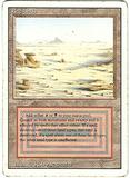 Magic the Gathering 3rd Ed (Revised) Single Badlands HEAVY PLAY (VG)