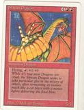 Magic the Gathering 3rd Ed (Revised) Single Shivan Dragon - MODERATE PLAY (MP)