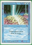 Magic the Gathering 3rd Ed (Revised) Single Braingeyser - SLIGHT PLAY (SP)