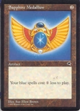 Magic the Gathering Tempest Single Sapphire Medallion - MODERATE PLAY (MP)