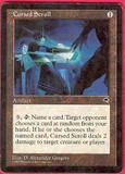 Magic the Gathering Tempest Single Cursed Scroll - MODERATE PLAY (MP)