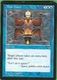 Magic the Gathering Tempest Single Time Warp LIGHT PLAY (NM)