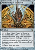 Magic the Gathering Unhinged Single Pointy Finger of Doom Foil