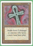 Magic the Gathering Unlimited Single Ankh of Mishra UNPLAYED (NM/MT)