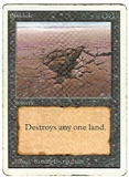 Magic the Gathering Unlimited Single Sinkhole - HEAVY PLAY (HP)