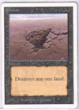 Magic the Gathering Unlimited Single Sinkhole LIGHT PLAY (NM)