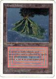 Magic the Gathering Unlimited Single Volcanic Island MODERATE PLAY (VG/EX)