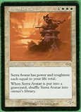 Magic the Gathering Urza's Saga Single Serra Avatar - MODERATE PLAY (MP)