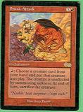 Magic the Gathering Urza's Saga Single Sneak Attack - SLIGHT PLAY (SP)