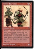Magic the Gathering Visions Single Goblin Recruiter UNPLAYED (NM/MT)