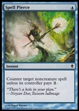 Magic the Gathering Zendikar Single Spell Pierce Foil - NEAR MINT (NM)