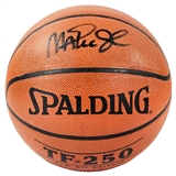 Magic Johnson LA Lakers Autographed Spalding Basketball (PSA COA)