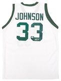 Magic Johnson Autographed Michigan State Spartans White Basketball Jersey (PSA)