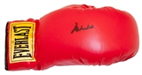 Muhammad Ali Autographed Everlast Red Boxing Glove (Stacks of Plaques)