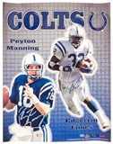 Peyton Manning & Edgerrin James Autographed Indianapolis Colts 16x20 Photo (Mounted Mem)