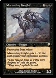 Magic the Gathering Invasion Single Marauding Knight Foil