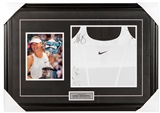 Maria Sharapova Autographed Game Worn Framed Nike Tennis Shirt (Tennis Canada)