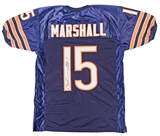 Brandon Marshall Autographed Chicago Bears Blue Jersey (PSA)