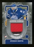 2012/13 In the Game Between The Pipes Jerseys Silver #M45 Spencer Martin /140
