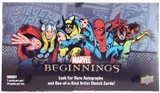 Marvel Beginnings Trading Cards Hobby Box (Upper Deck 2011)