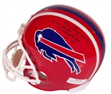 Marv Levy Autographed Buffalo Bills Full Size Football Helmet w Inscriptions