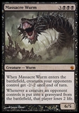 Magic the Gathering Mirrodin Besieged Single Massacre Wurm FOIL - SLIGHT PLAY (SP)