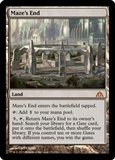 Magic the Gathering Dragon's Maze Single Maze's End Foil