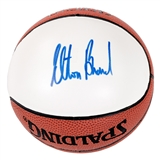 Elton Brand Autographed Chicago Bulls Mini Spalding Basketball (Press Pass)