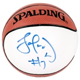 Lamar Odom Autographed Los Angeles Clippers Mini Spalding Basketball (Press Pass)