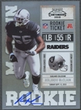 2010 Playoff Contenders #230A Rolando McClain /378 Running Rookie Autograph