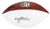 Michael Crabtree Autographed San Francisco 49ers Wilson Football (Press Pass)
