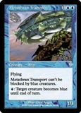 Magic the Gathering Invasion Single Metathran Transport FOIL