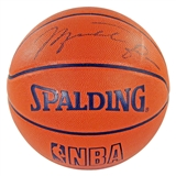 Michael Jordan Autographed Authentic Wilson Basketball (PSA)