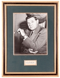 Babe Ruth Autographed New York Yankees Framed Signature Cut (JSA Letter)