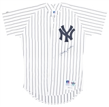Mickey Mantle Autographed New York Yankees Russell Athletic Jersey (JSA Full Letter)