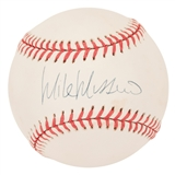 Mike Mussina Autographed New York Yankees Official MLB Baseball (MLB Authentic)