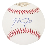 Mike Trout Autographed Los Angeles Angels Official MLB Baseball Numbered #10/27 (MLB)