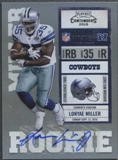 2010 Playoff Contenders #166 Lonyae Miller /412 Rookie Autograph