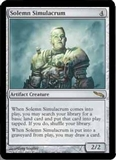 Magic the Gathering Mirrodin Single Solemn Simulacrum UNPLAYED (NM/MT)